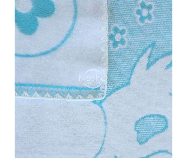 melynos spalvos vaikiskas medvilninis pledas