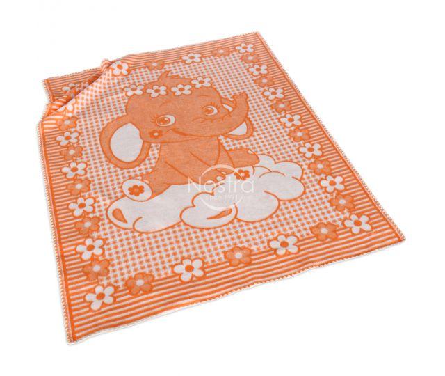 oranzinis medvilninis vaikiskas pledas