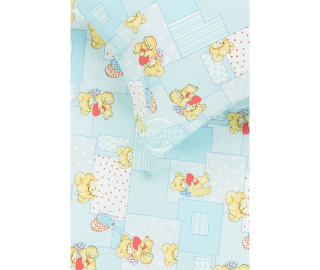 Vaikiška patalynė LITTLE BEAR & HEARTS 10-0331-BLUE
