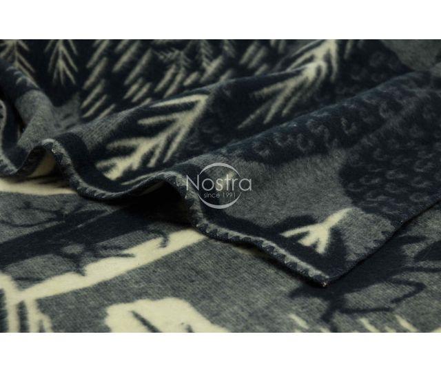 Antklodė, pledas iš MERINO vilnos 80-3180-BLUE