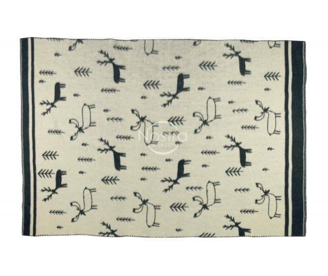 Antklodė, pledas iš MERINO vilnos 80-3190-DARK GREY