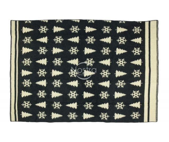 Antklodė, pledas iš MERINO vilnos 80-3189-DARK GREY