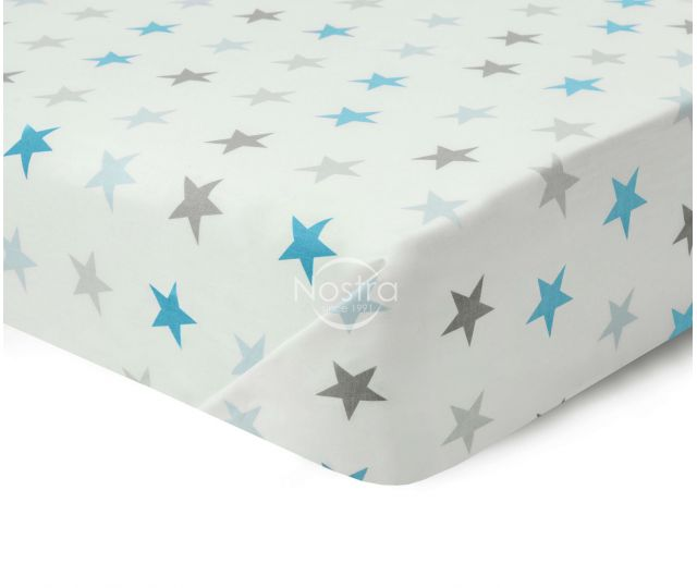 Vaikiško kartūno paklodė 10-0052-L.GREY/L.BLUE