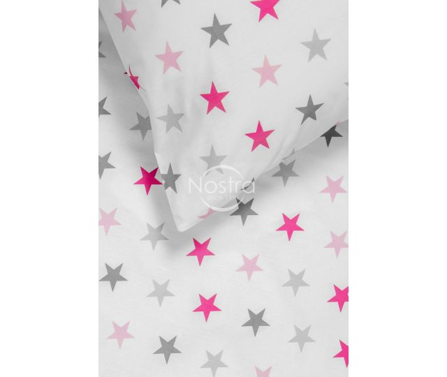 Vaikiška patalynė STARS 10-0052-L.GREY/L.PINK
