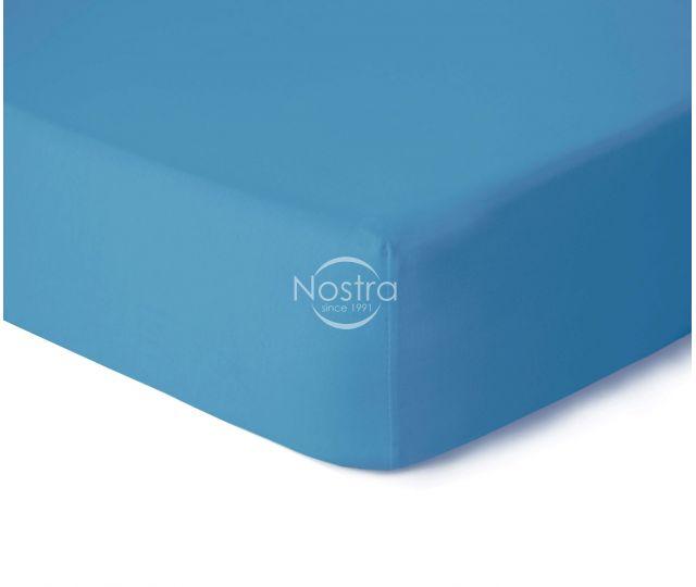 Trikotažinės paklodės su guma JERSEYBTL-ETHERAL BLUE 120x200 cm