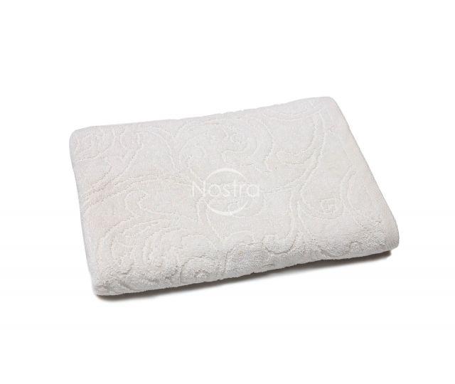 Žakardiniai rankšluosčiai 500j T0009-WHITE 70x140 cm