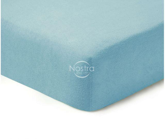 Frotinės paklodės su guma TERRYBTL-L.BLUE 160x200 cm