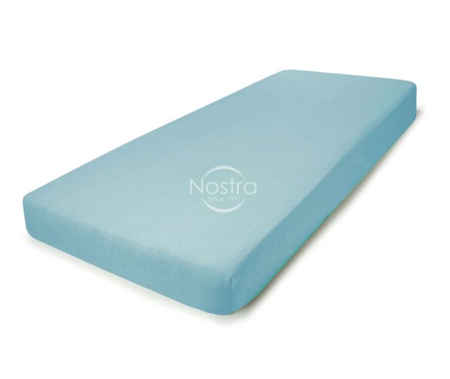 Frotinės paklodės su guma TERRYBTL-L.BLUE 90x200 cm