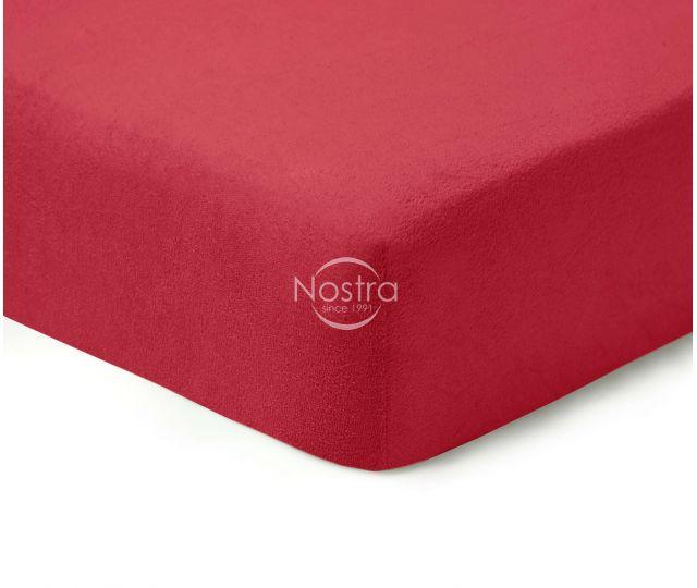 Frotinės paklodės su guma TERRYBTL-WINE RED 180x200 cm