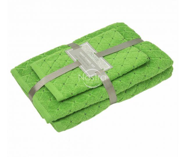 3 dalių rankšluosčių komplektas T0107 T0107-JASMINE GREEN 30x50, 50x70, 70x140 cm