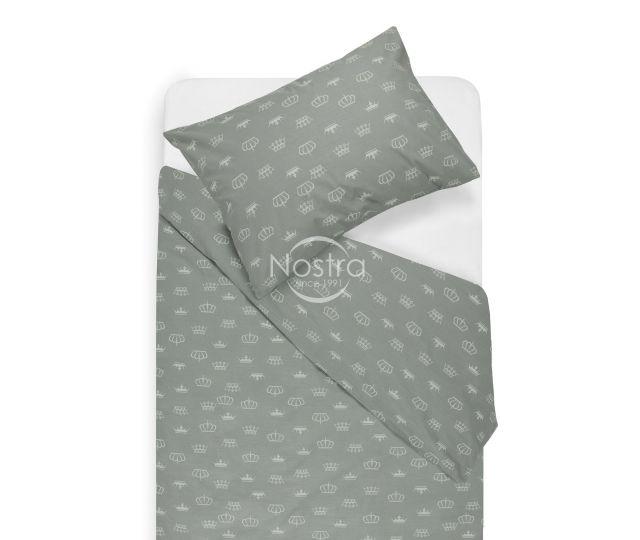 Vaikiška patalynė CROWN 10-0073-WHITE/L.GREY 145x200, 50x70 cm