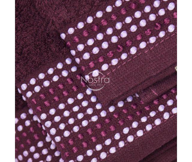 3 dalių rankšluosčių komplektas T0044 T0044-BURGUNDY 30x50, 50x70, 70x140 cm