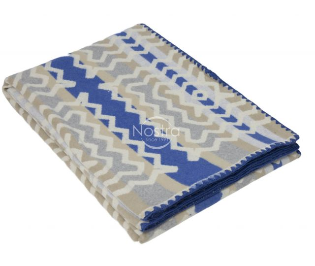 Medvilninis pledas SUMMER 80-2033-GREY BLUE