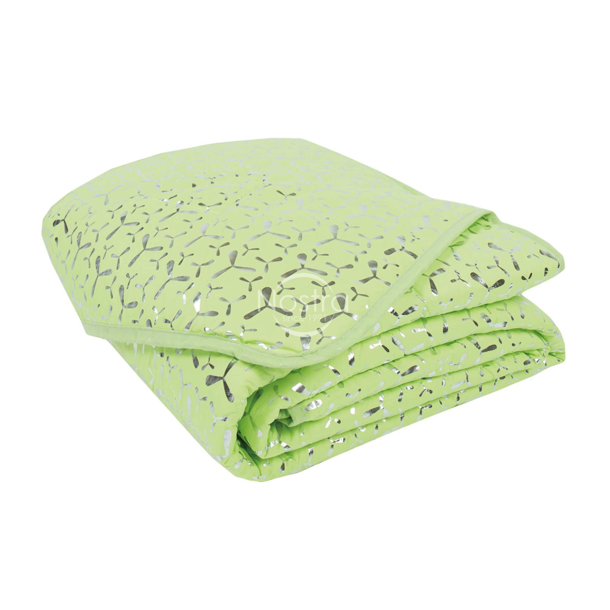 Marginta lovatiesė, lovos užtiesalas METALIC 70-0024-SOFT GREEN/SILVER