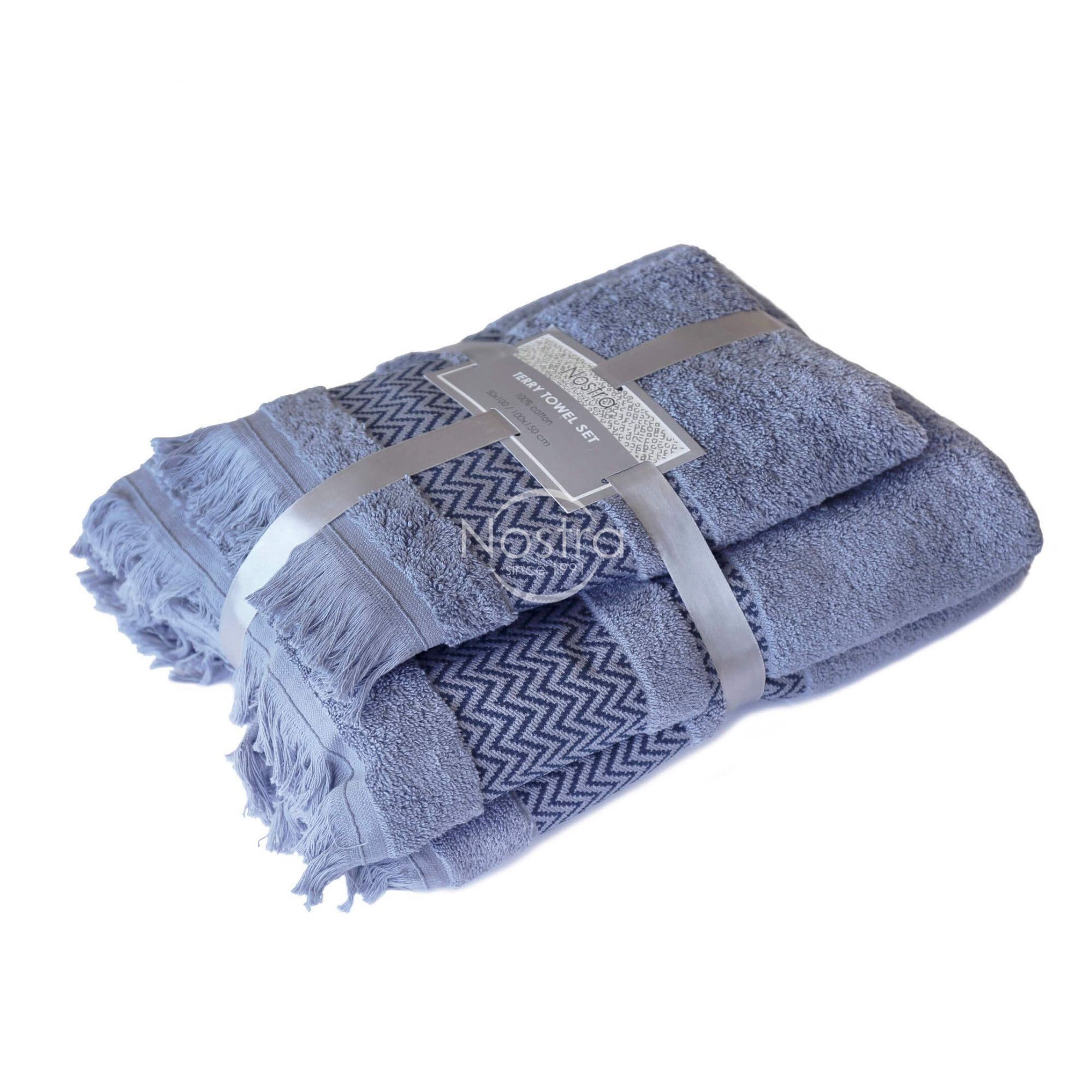 2 dalių rankšluosčių komplektas 550DOBBY T0058-STONE BLUE