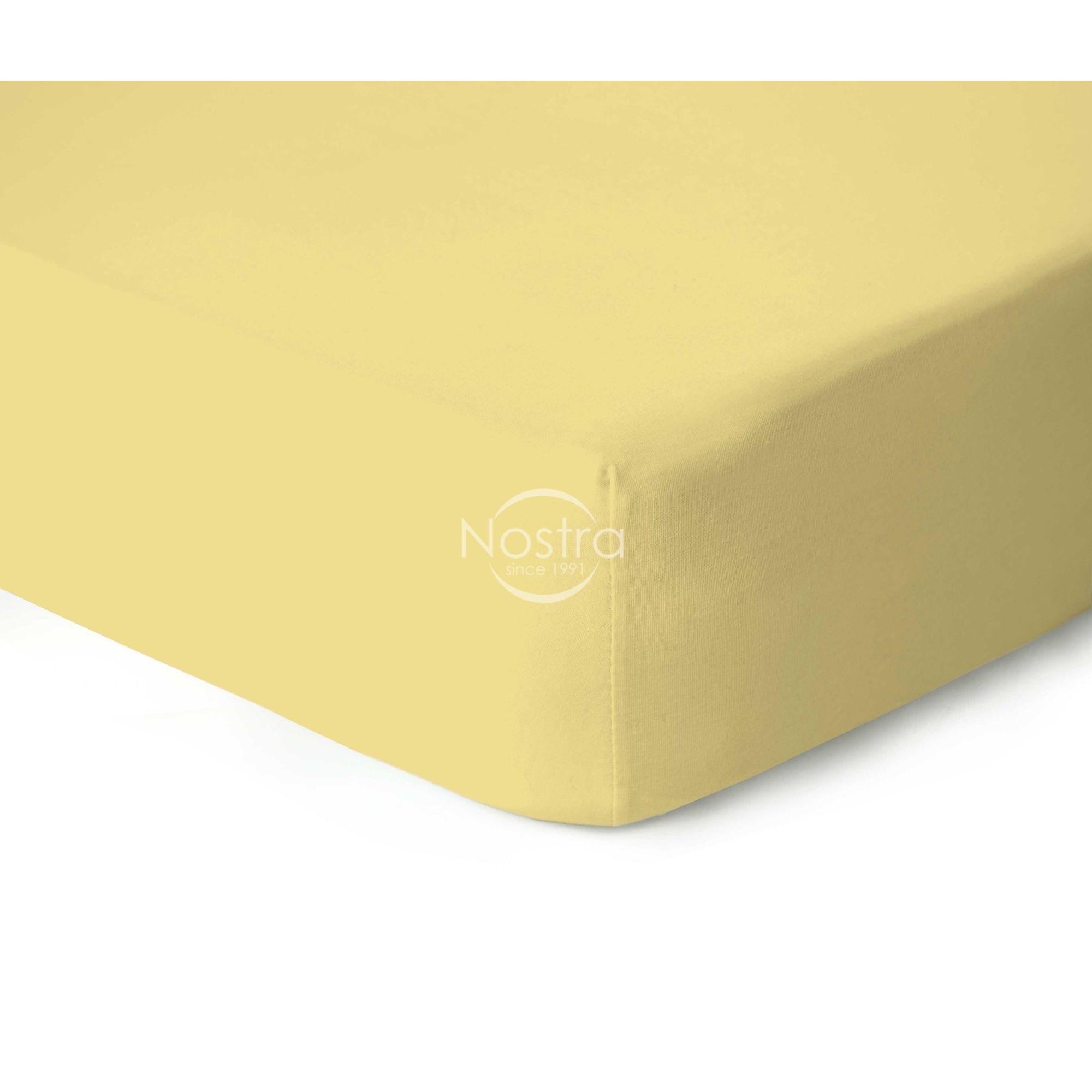 Trikotažinės paklodės su guma JERSEY-PALE BANAN