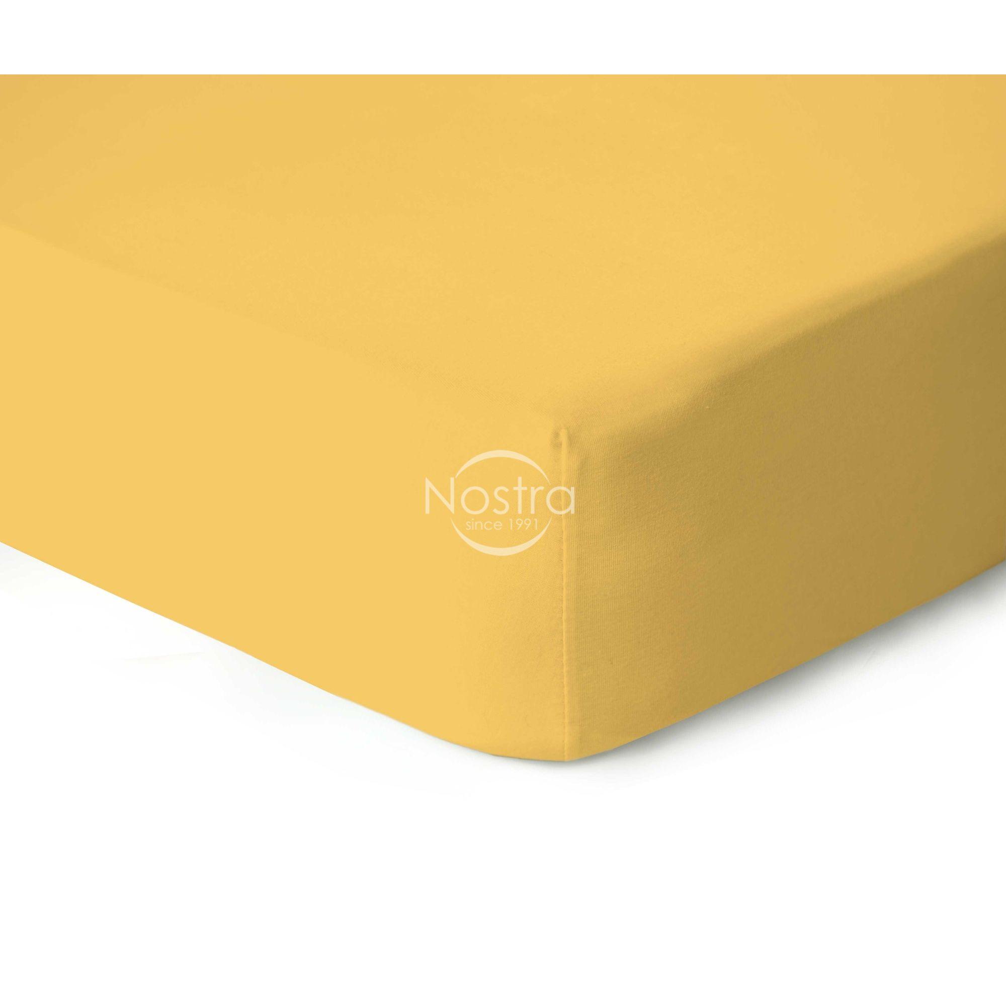 Trikotažinės paklodės su guma JERSEY-SUN YELLOW