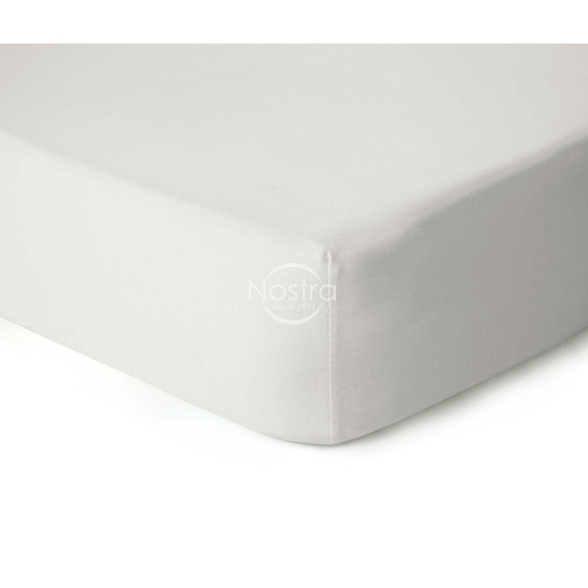 Trikotažinės paklodės su guma JERSEY-OFF WHITE