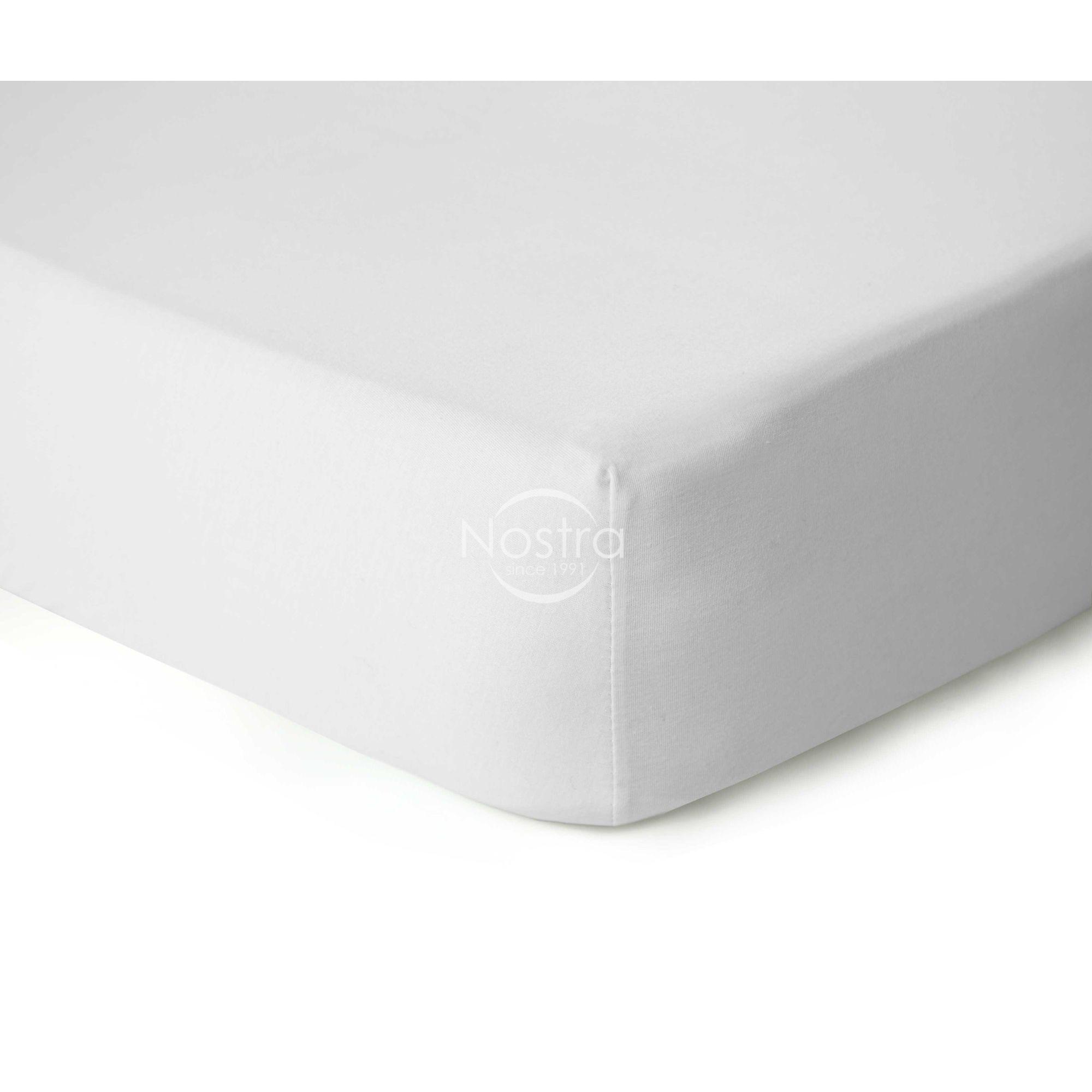 Trikotažinės paklodės su guma JERSEYBTL-OPTIC WHITE