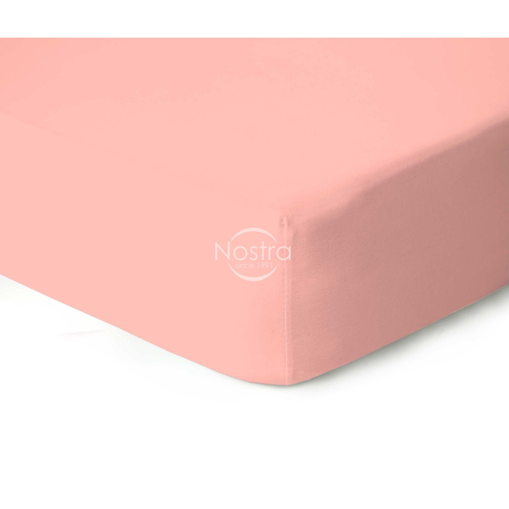 Trikotažinės paklodės su guma JERSEYBTL-PEACH AMBE