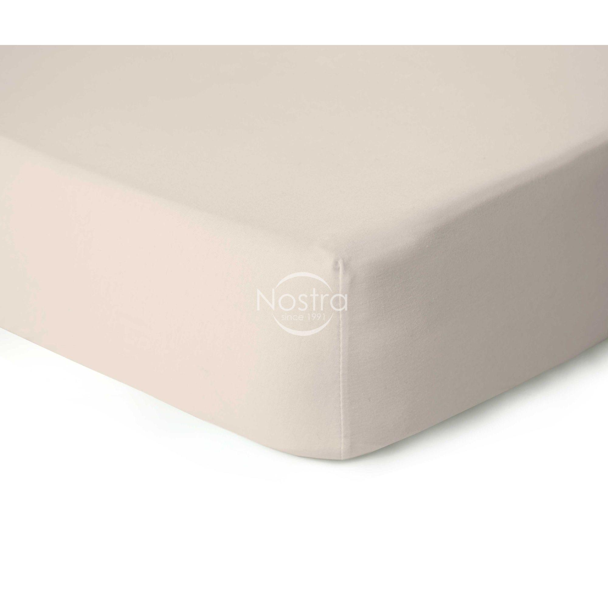 Trikotažinės paklodės su guma JERSEYBTL-CREAM