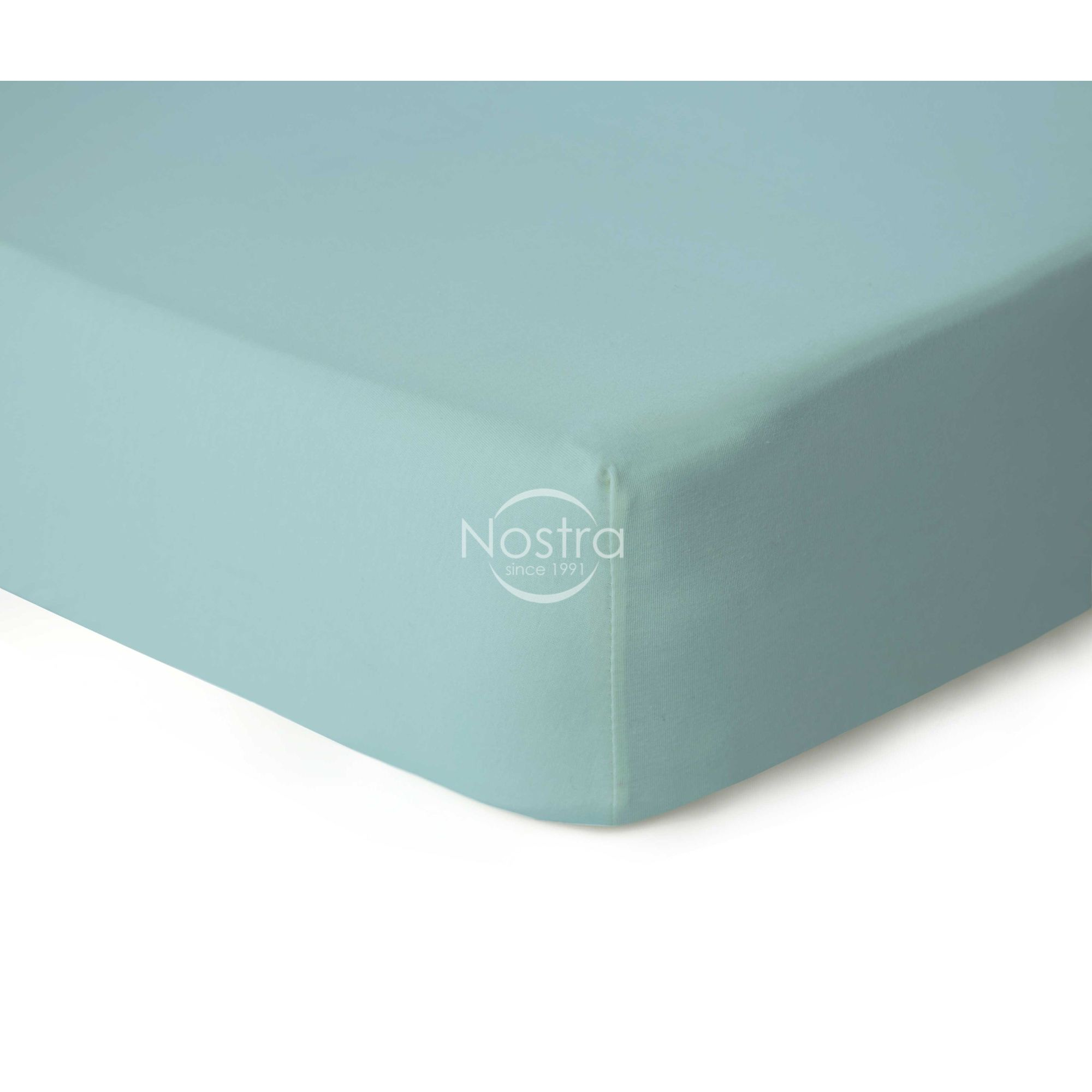 Trikotažinės paklodės su guma JERSEYBTL-BABY BLUE