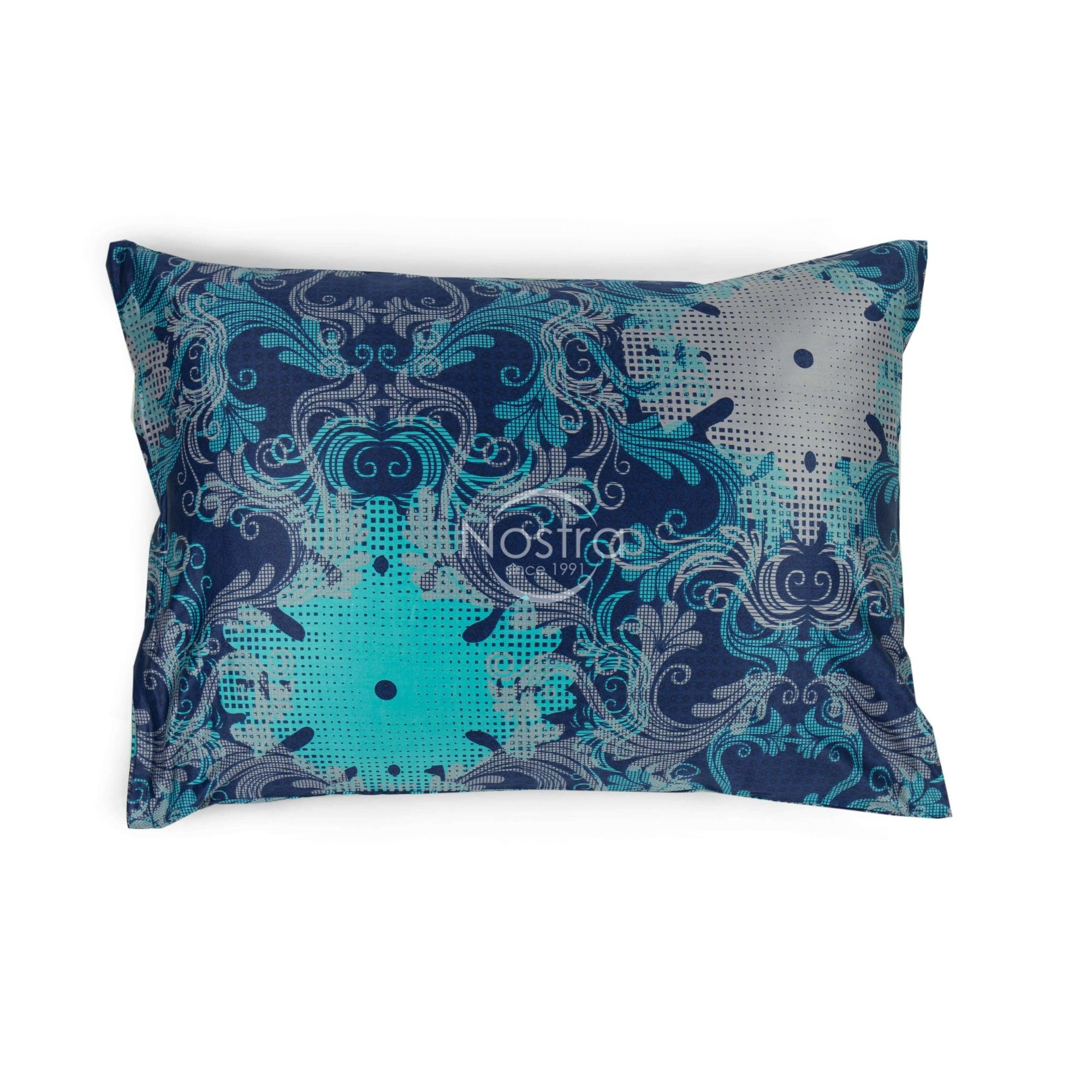 Maco sateen pillow cases with zipper 40-0631-BLUE