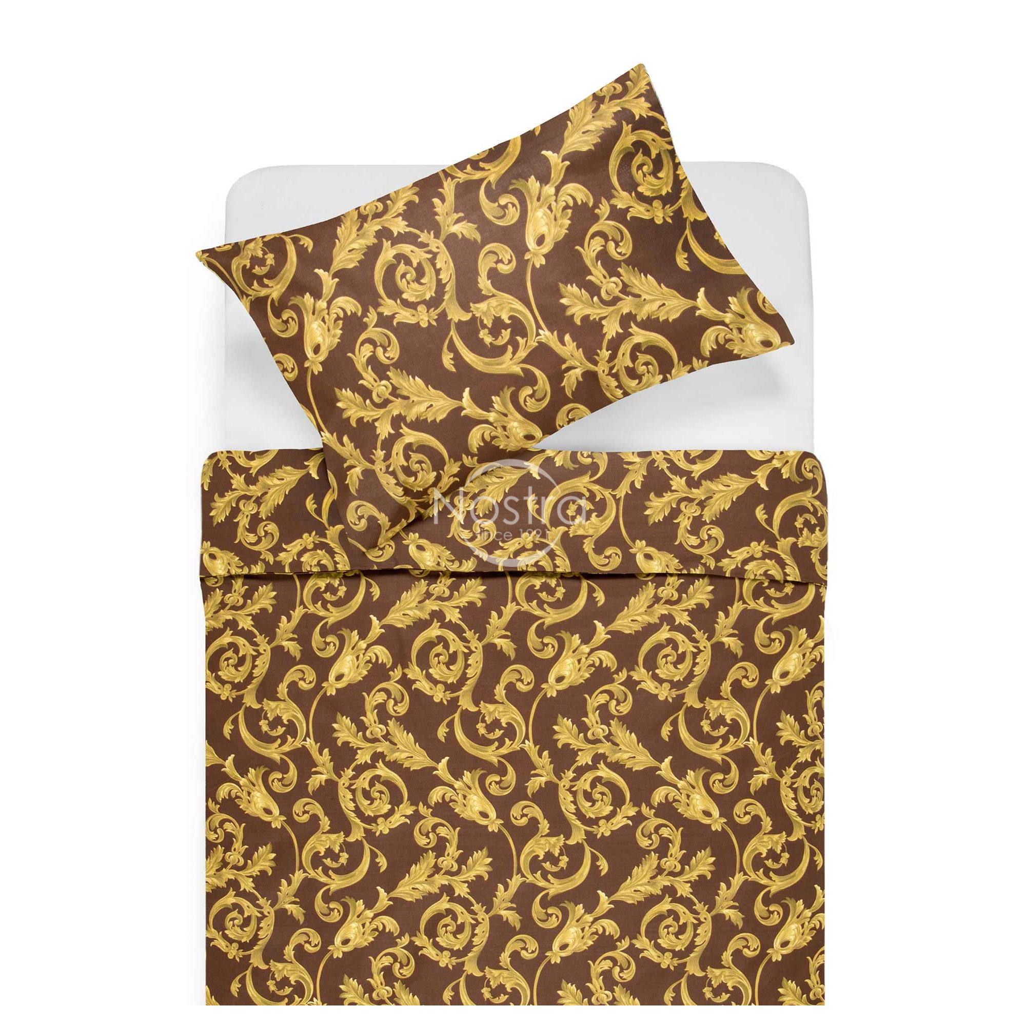 Polycotton bedding set HAILI 40-1080-BROWN