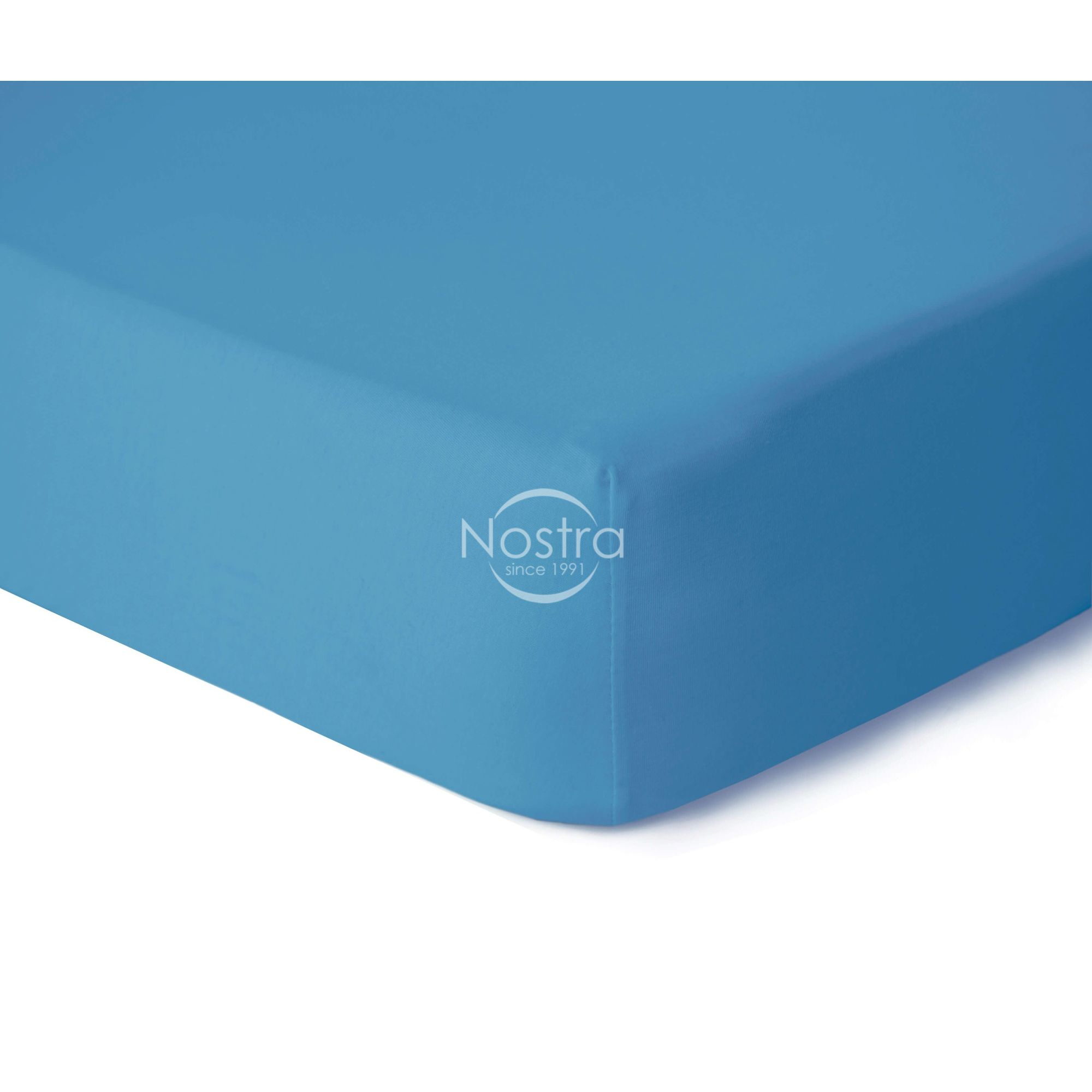 Trikotažinės paklodės su guma JERSEYBTL-ETHERAL BLUE 90x200 cm