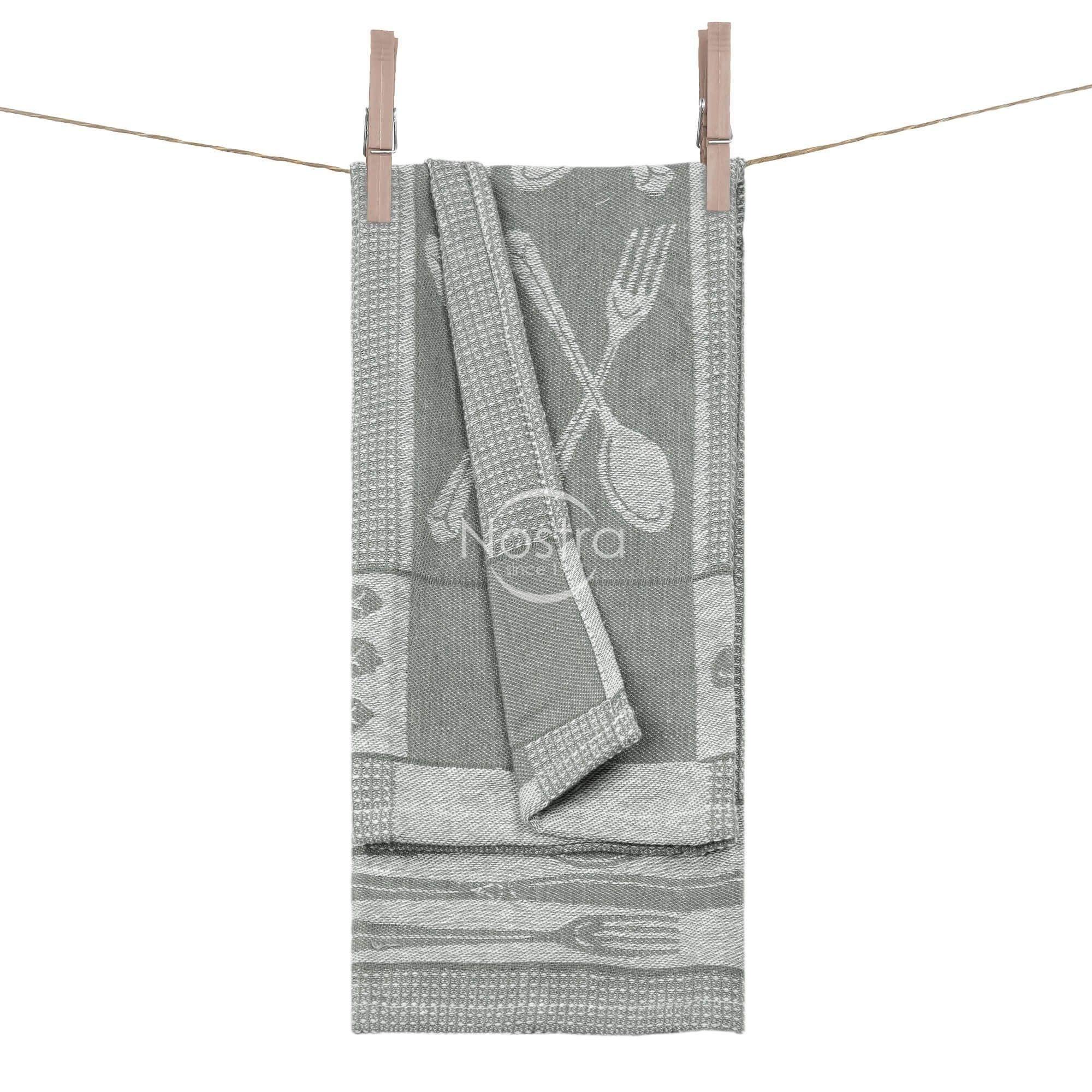Virtuvinis rankšluostis WAFEL-240 T0018-S.GREY WH 50x70 cm