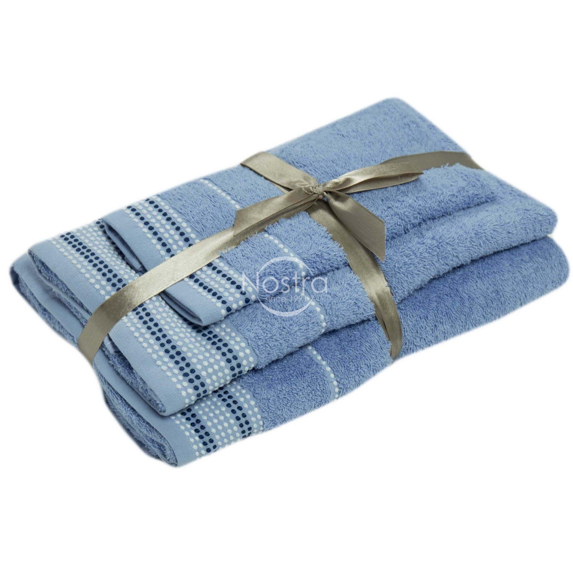 3 dalių rankšluosčių komplektas T0044 T0044-SOFT BLUE