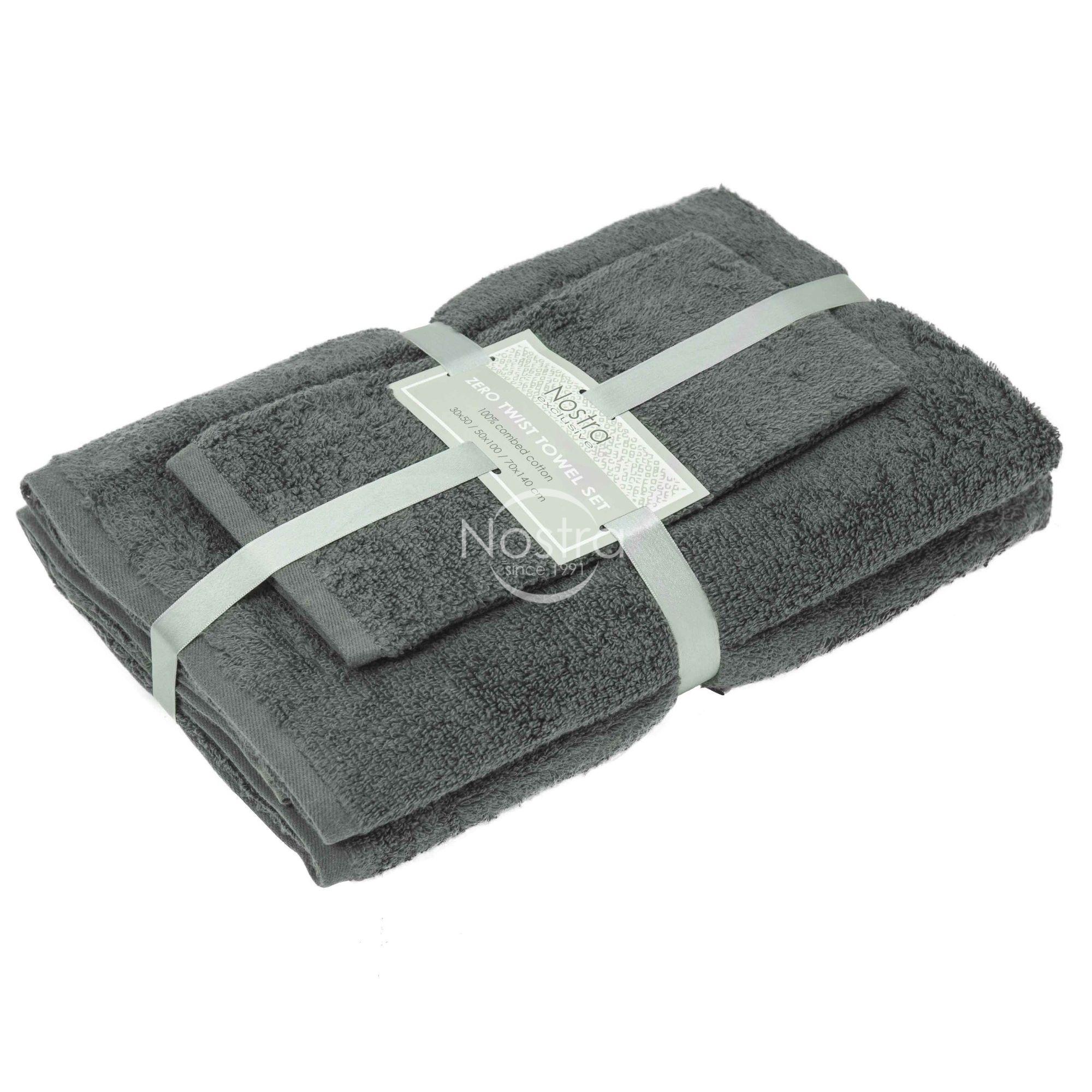 3 dalių rankšluosčių komplektas 380 ZT 380 ZT-STEEL GREY 30x50, 50x100, 70x140 cm