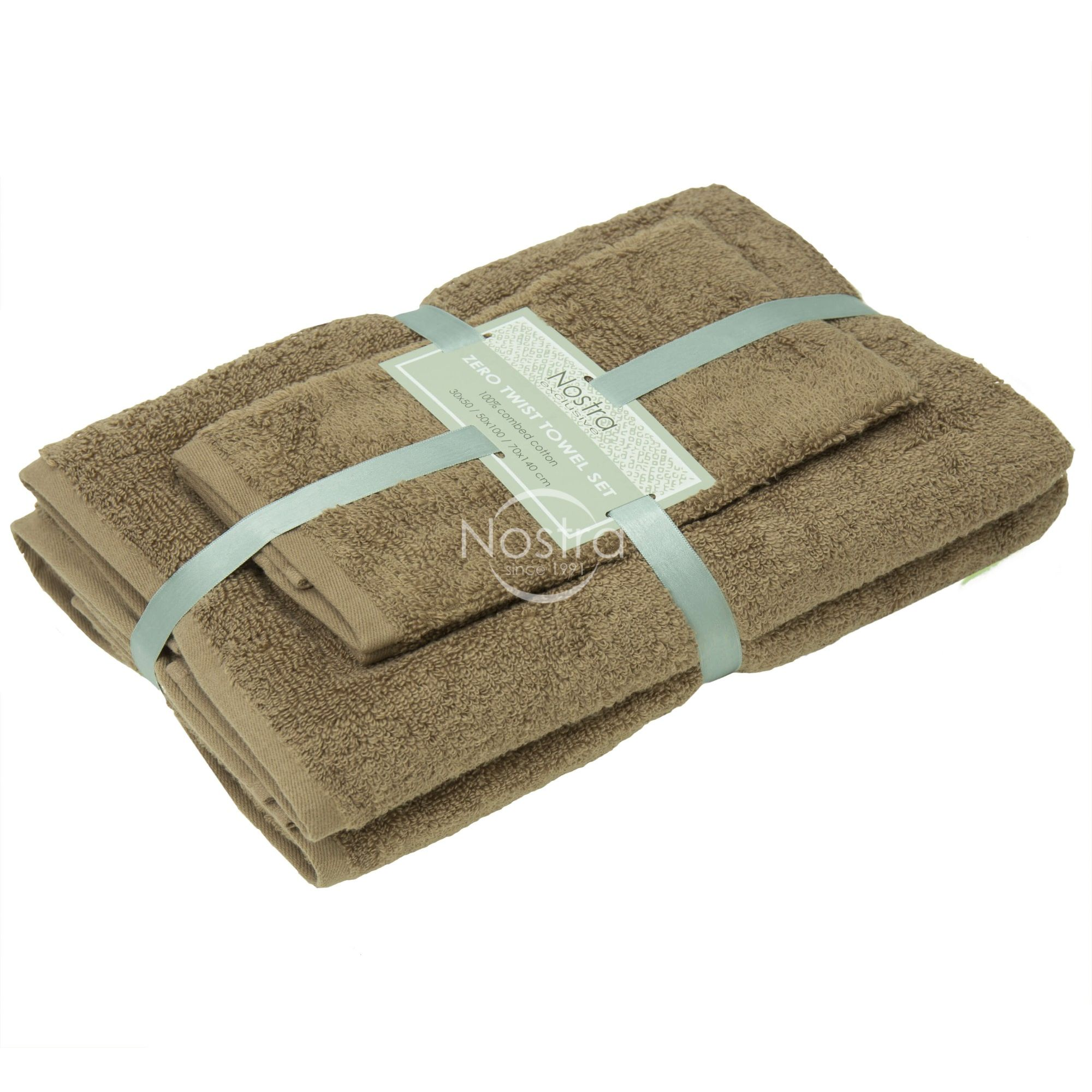 3 dalių rankšluosčių komplektas 380 ZT 380 ZT-ALMOND 30x50, 50x100, 70x140 cm