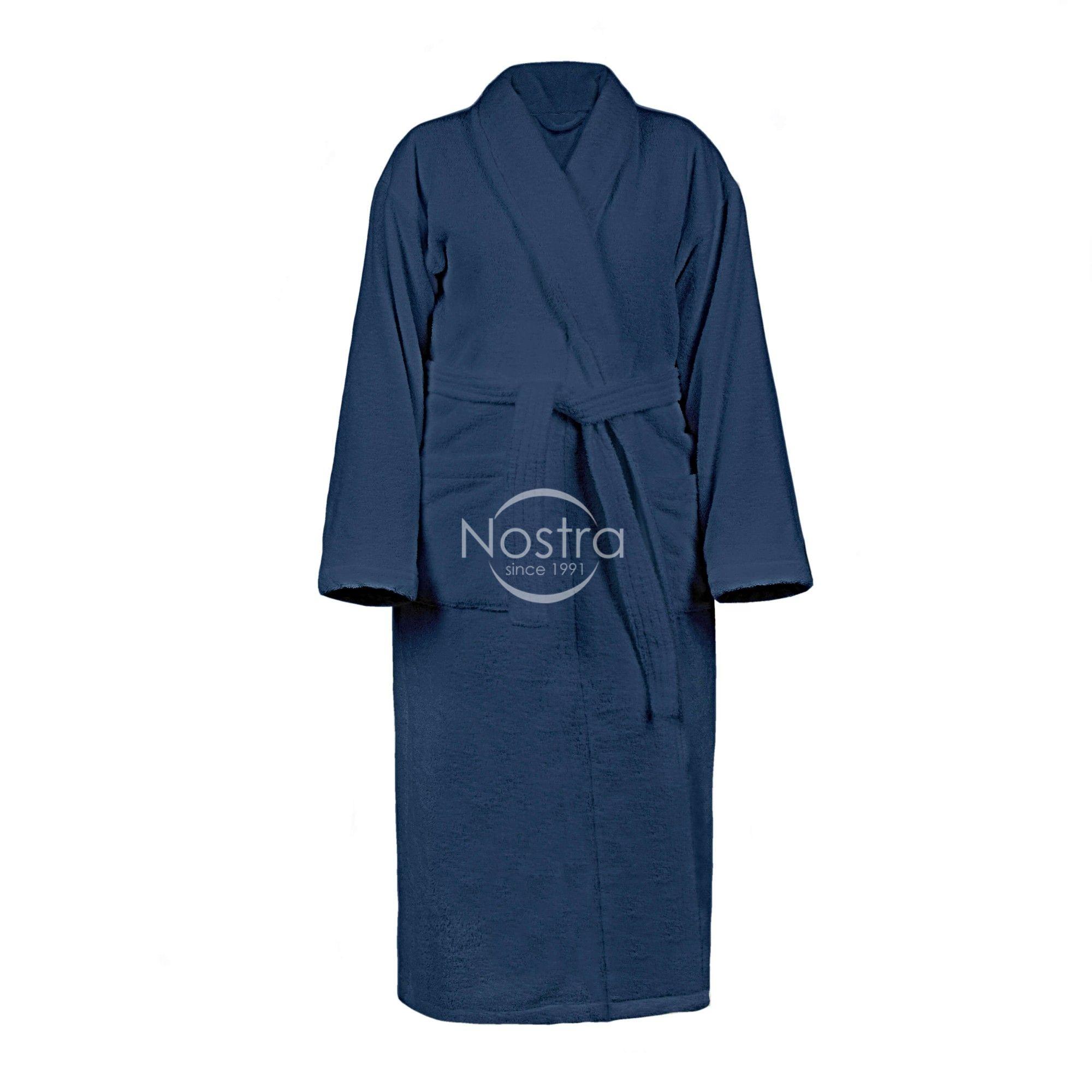 Chalatas VELOUR-430 430 BATHROBE-BLUE M
