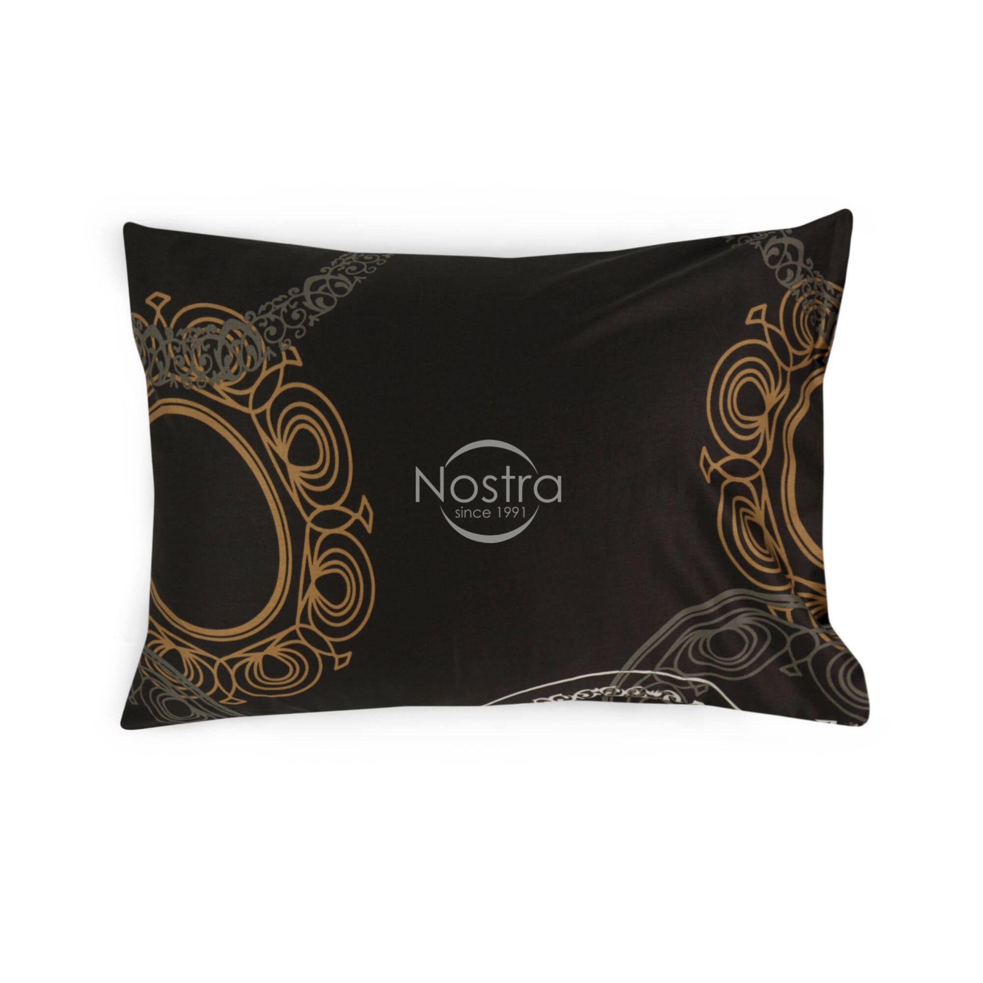 Satino pagalvės užvalkalas 40-0736-BROWN 50x70 cm