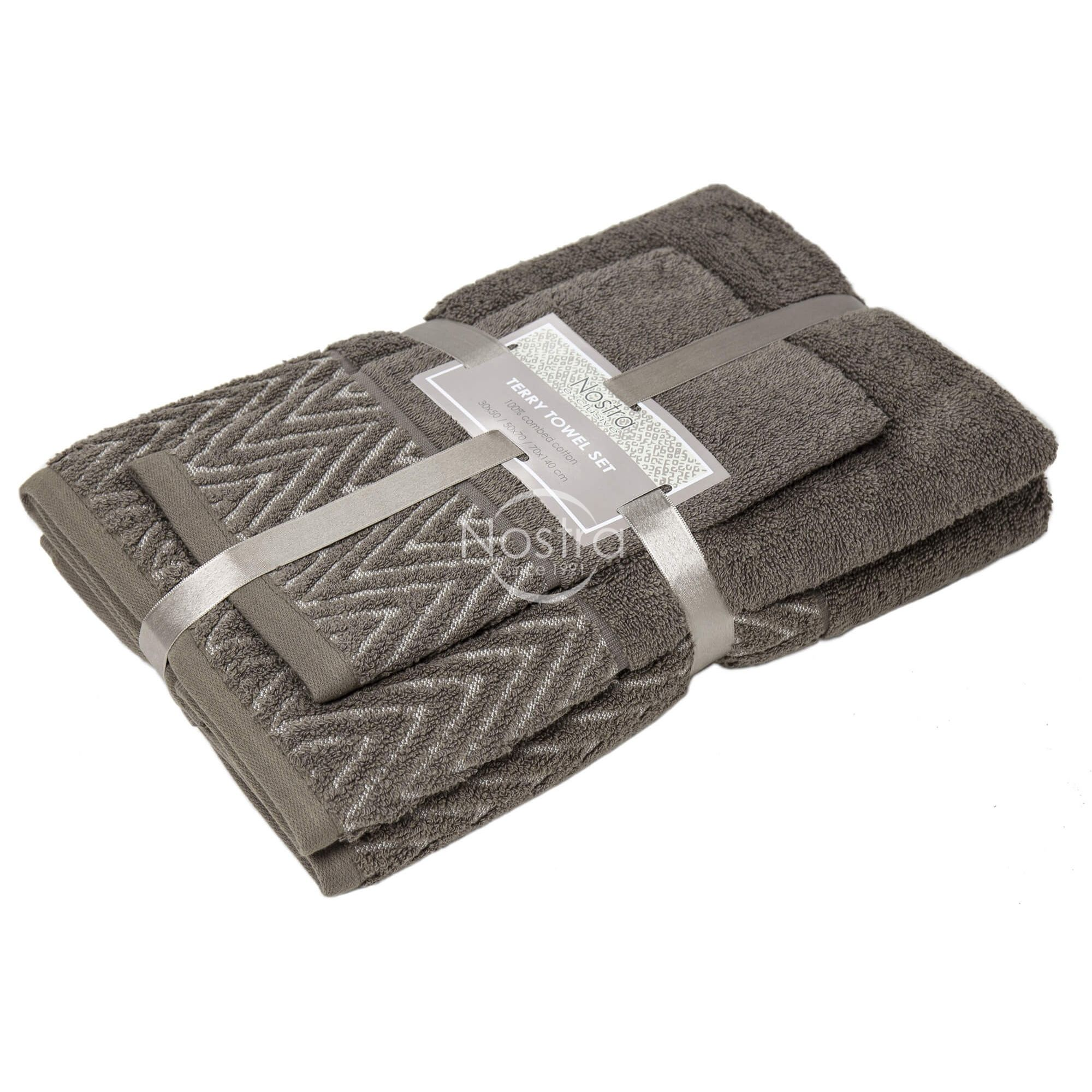 3 dalių rankšluosčių komplektas T0108 T0108-BROWN 393