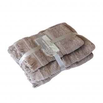 2 dalių rankšluosčių komplektas 550DOBBY T0058-ALMOND