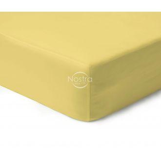 Атласная простыня на резинке 00-0016-PALE BANAN