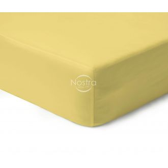 Fitted sateen sheets 00-0016-PALE BANAN