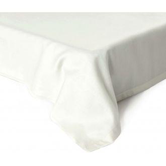 Атласные простыни без резинки 00-0001-OFF WHITE