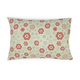 Flanelės pagalvės užvalkalas su užtrauktukais 40-1046-WINE RED