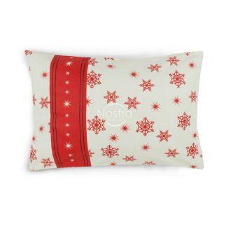 Flanelės pagalvės užvalkalas su užtrauktukais 40-0996-WINE RED