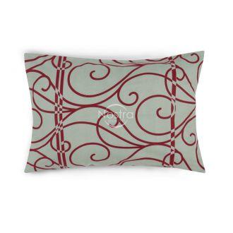 Flanelės pagalvės užvalkalas su užtrauktukais 40-0998-RED