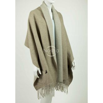 Scarf with pockets KUBA DOUBLE FACE-L.BROWN BEIGE P.NO1