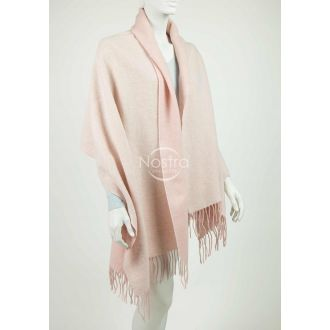 Scarf KUBA DOUBLE FACE-WHITE PINK