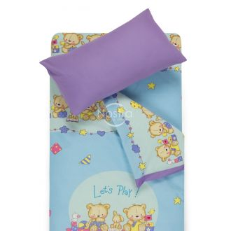 Children bedding set BEARS 10-0215/00-0139-L.BLUE/ORCHID BLUE