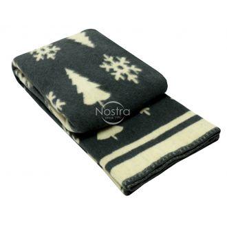 Одеяло из шерсти МЕРИН 80-3189-DARK GREY
