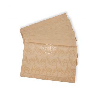 Žakardinio satino servetėlės, 6 vnt 80-0005-CREAM