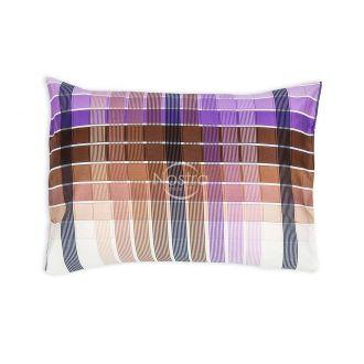 Satino pagalvės užvalkalas 30-0421-BROWN LILA