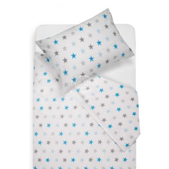Vaikiška patalynė STARS 10-0052-L.GREY/L.BLUE